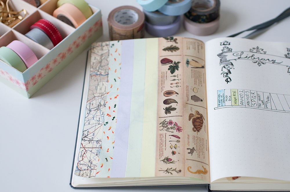 6 uses for washi tape in a bullet journal - decoration