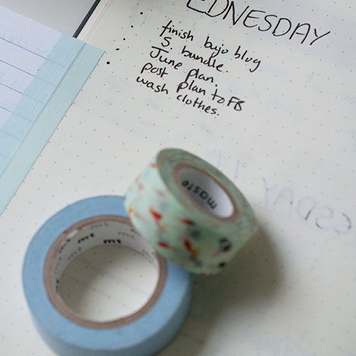 6 uses for washi tape in a bullet journal -