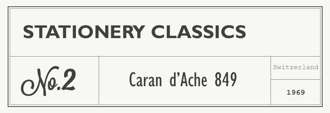 stationery classics no 2 - caran d'ache 849