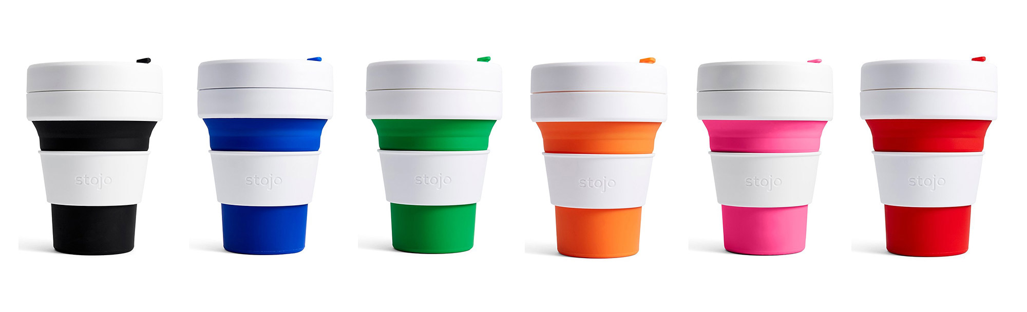 Review - Stojo reusable coffee cups in several colours