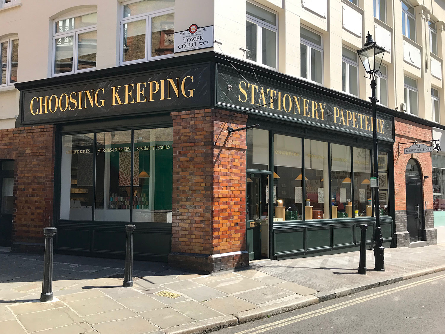 stationery shops west end london - choosing keeping