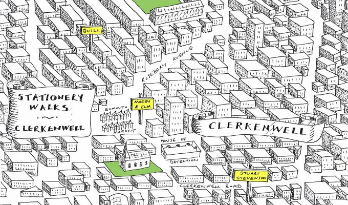 stationery shop clerkenwell london map