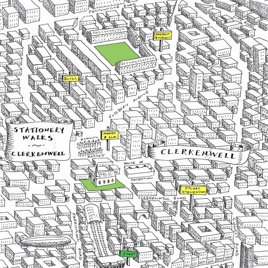 stationery shop clerkenwell london map