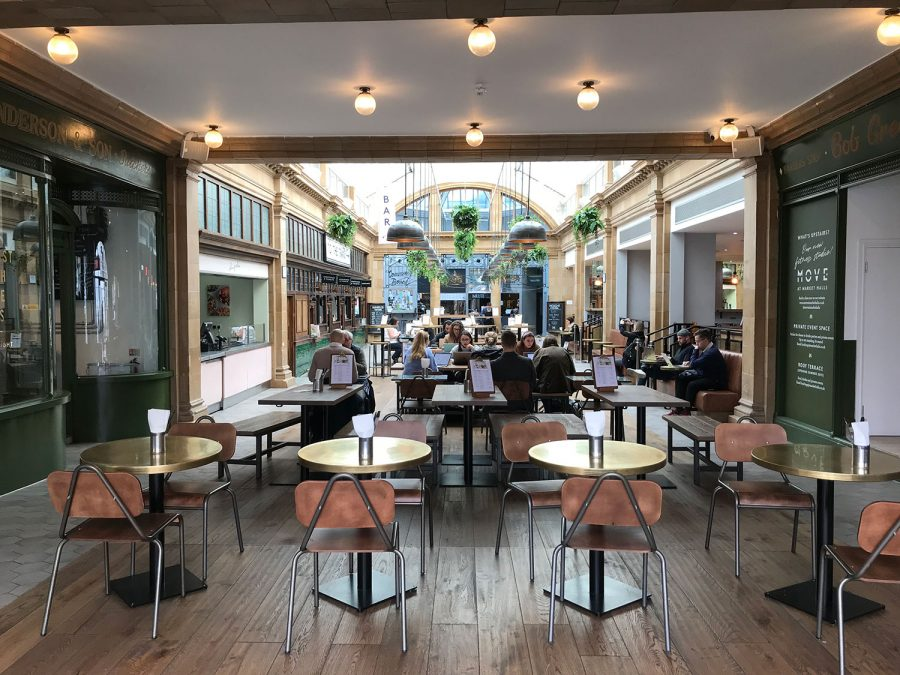 cafe working - fulham broadway market hall