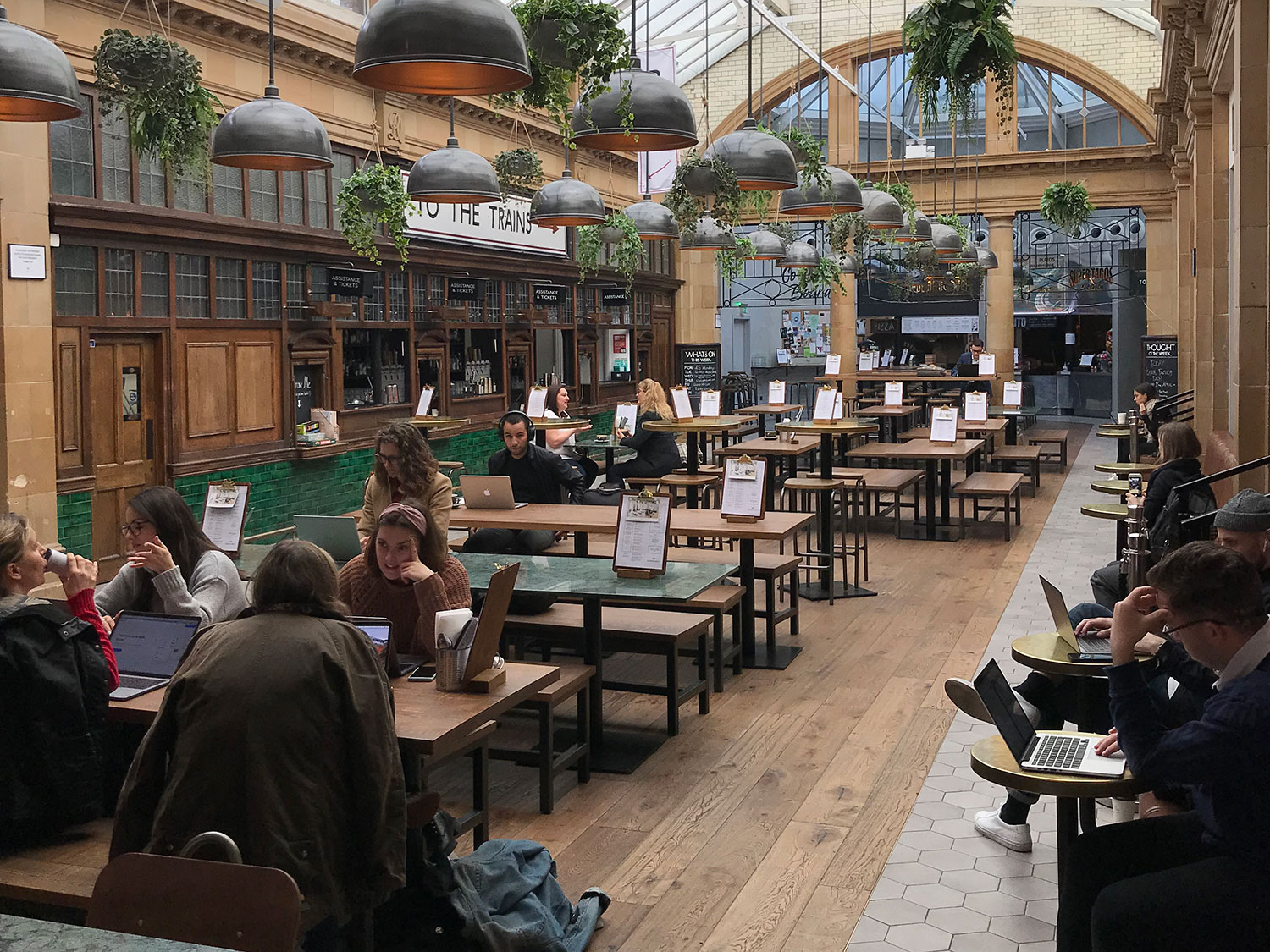 cafe working - fulham broadway market hall