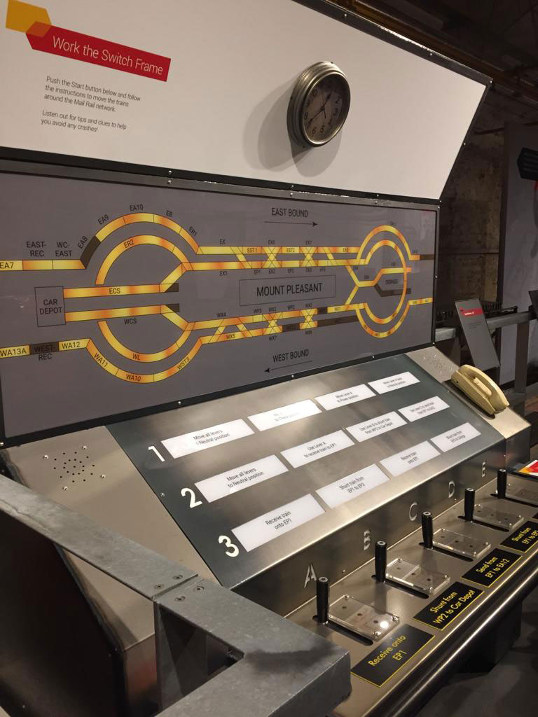 mail train at the postal museum london