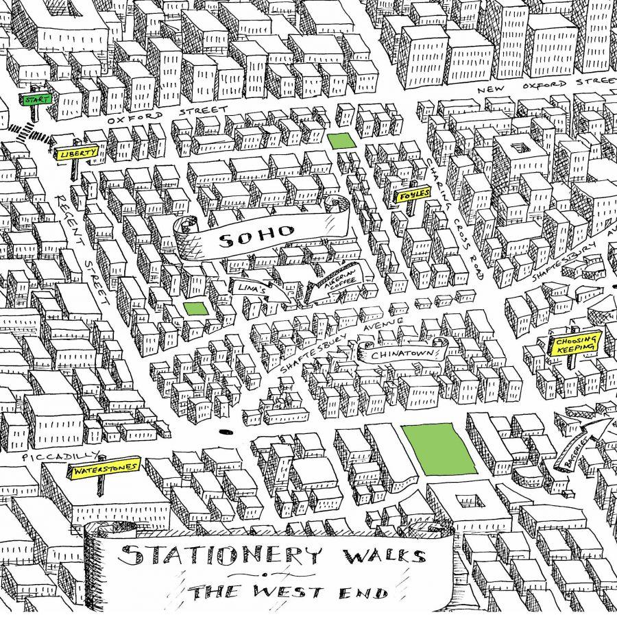 stationery shop soho london map