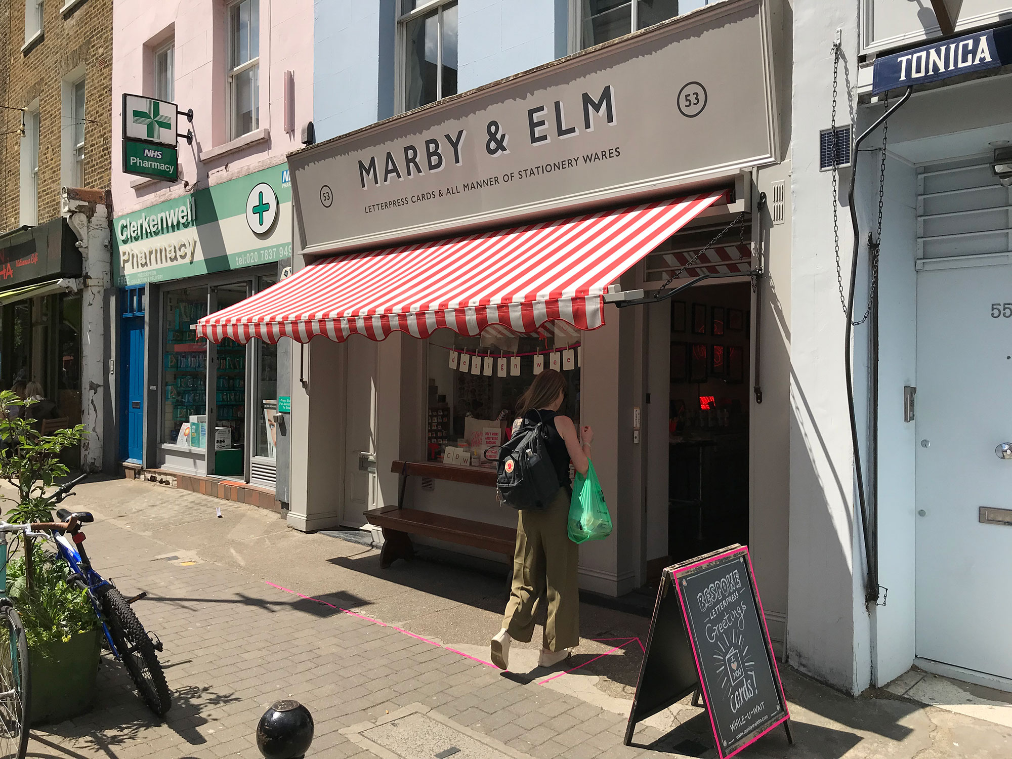 Marby & Elm shop Exmouth Market