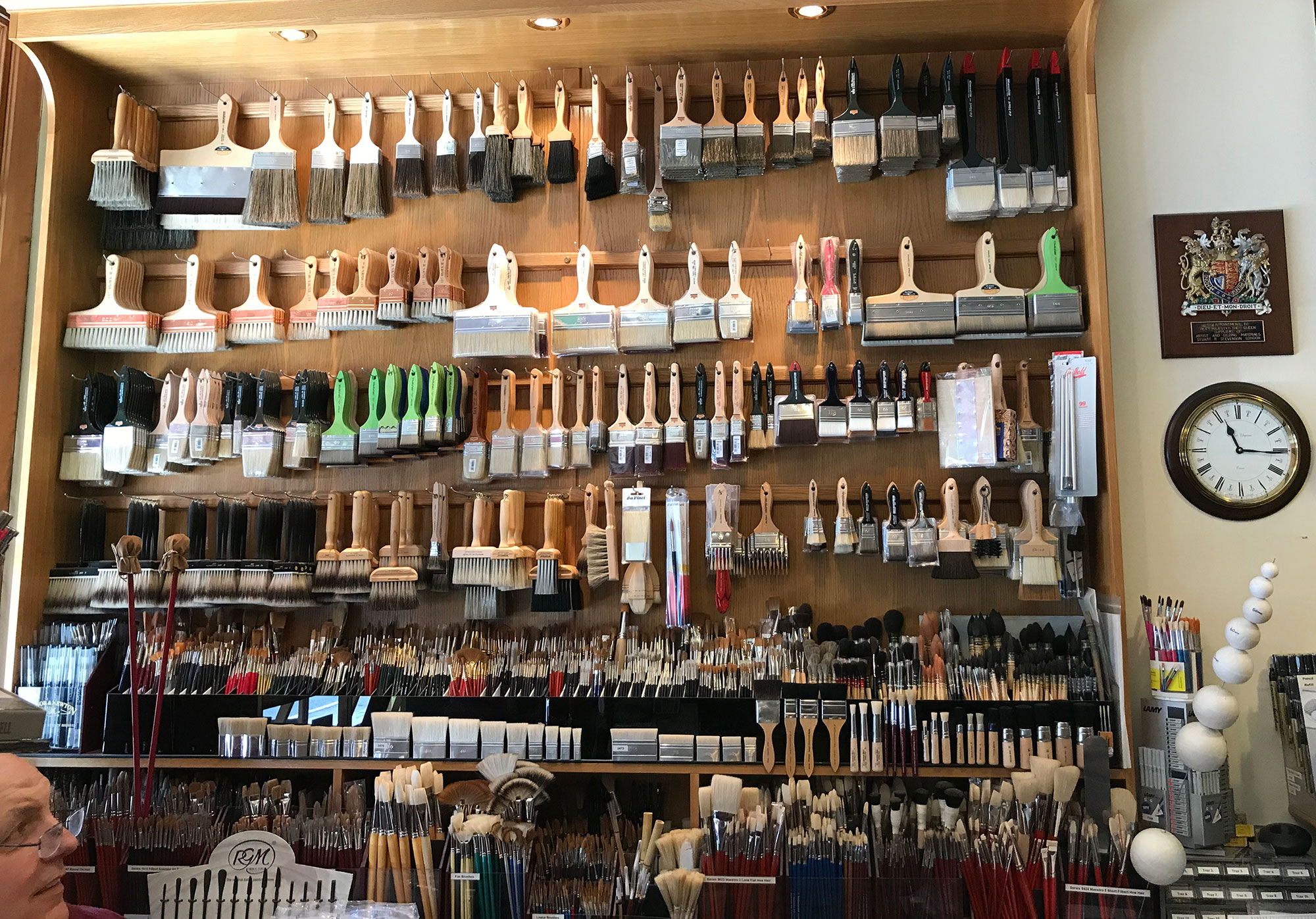 Brushes at Stuart R Stevenson Stationery & Art Shop