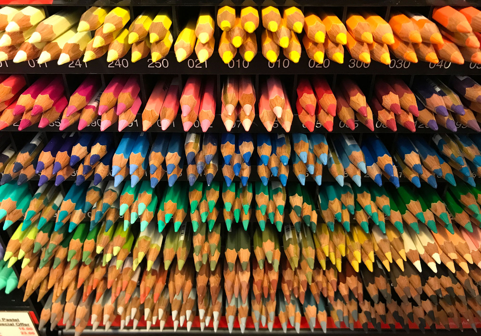 Pencils at Stuart R Stevenson Stationery & Art Shop