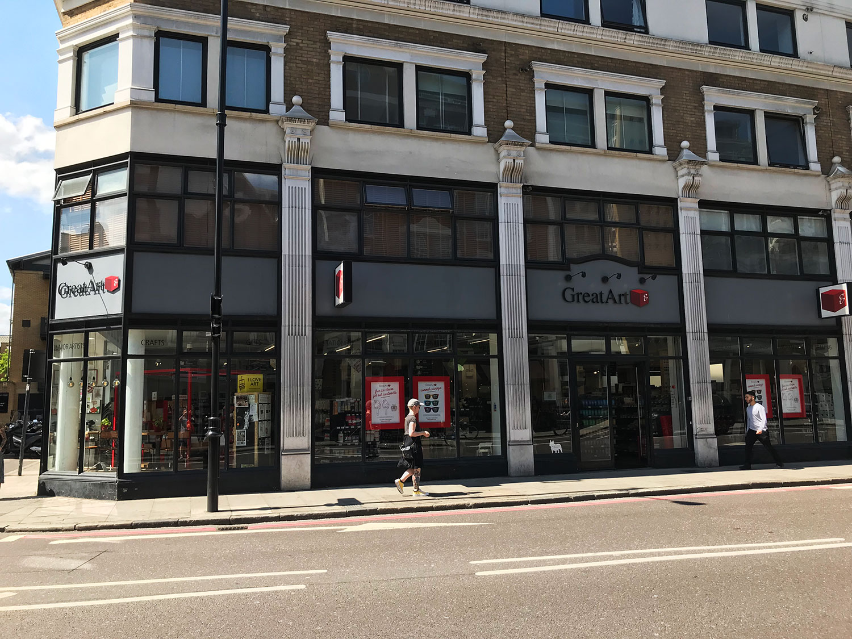 stationery shop walk shoreditch london - great art