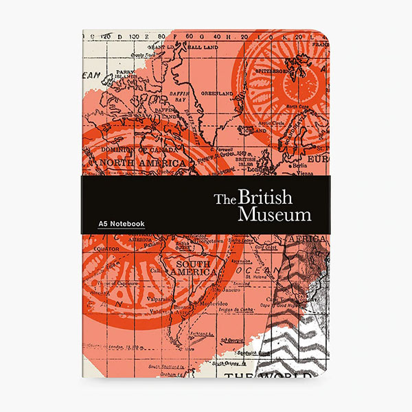 map themed stationery - british museum notebook