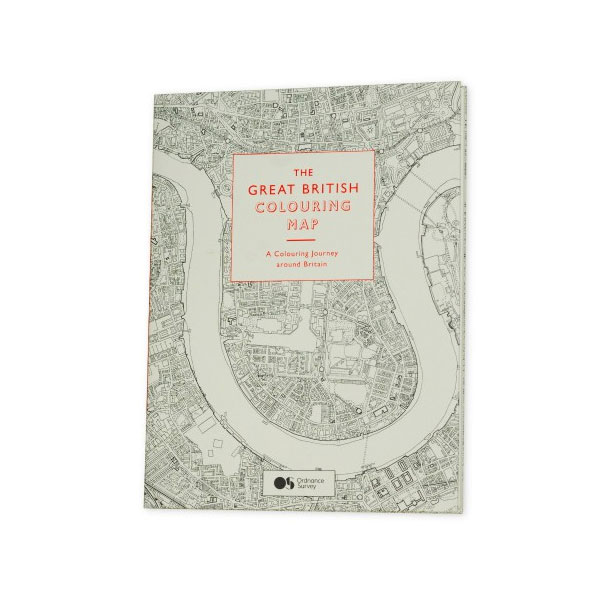 map themed stationery - colouring book