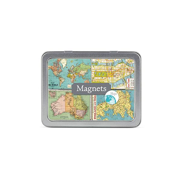 map themed stationery - fridge magnets