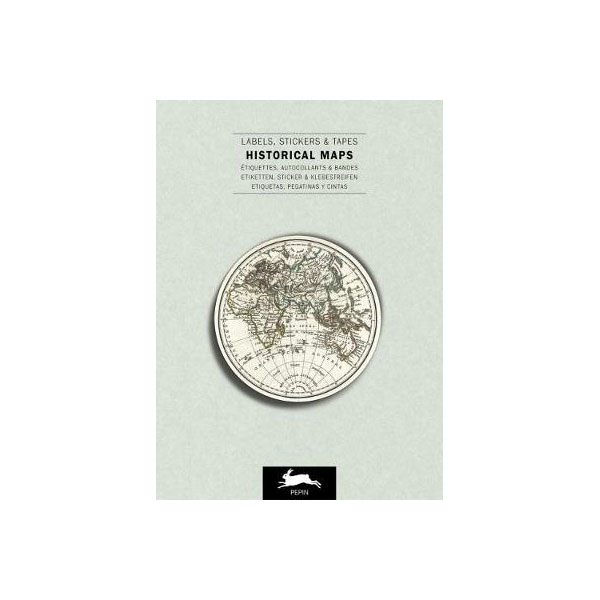 map themed stationery - sticker book