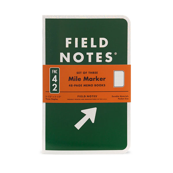 map themed stationery - field notes mile marker