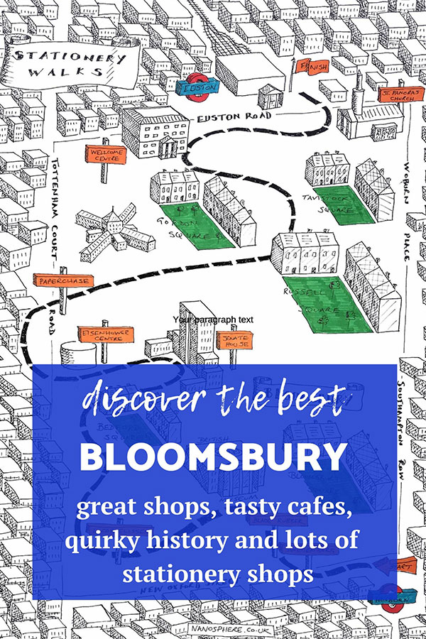 stationery shop walks bloomsbury london
