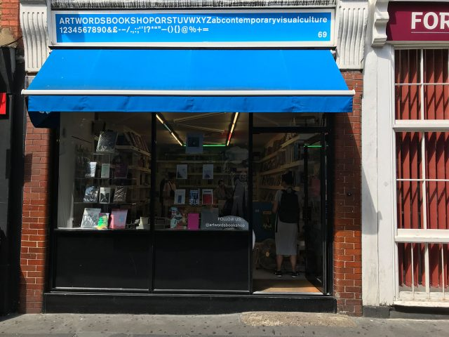 stationery shop walk shoreditch london - artworks bookshop