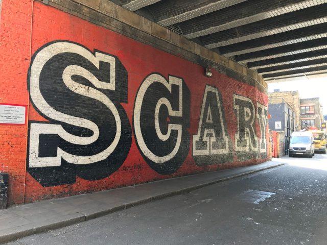 stationery shop walk shoreditch london - graffiti