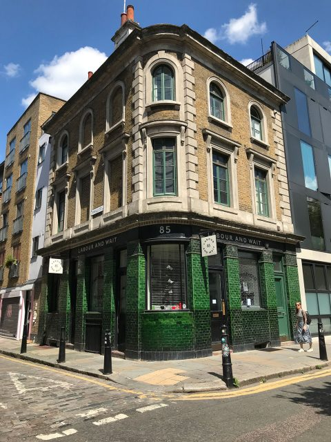 stationery shop walk shoreditch london - labour and wait