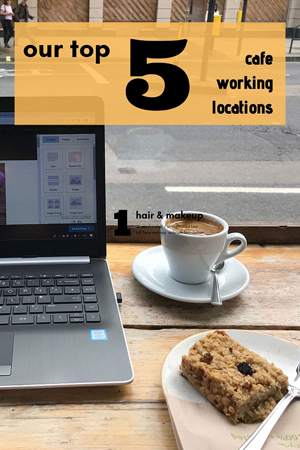our top 5 cafe working locations