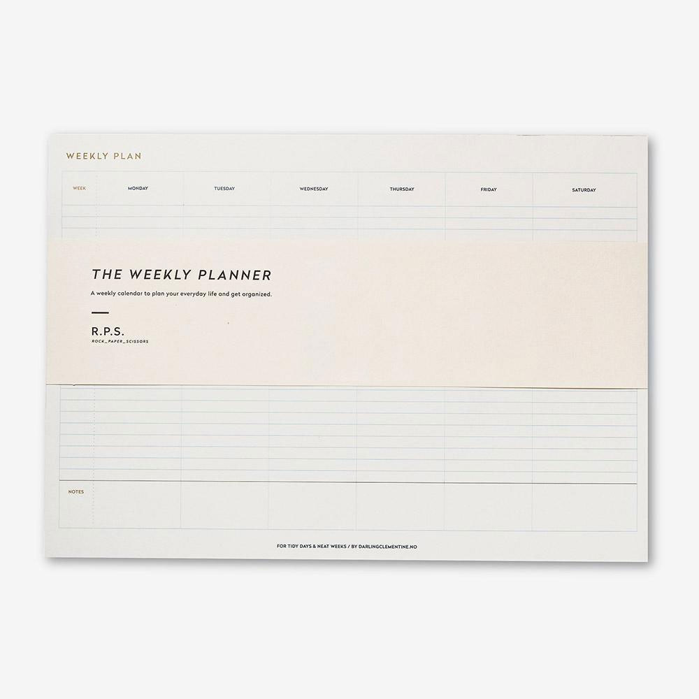 Rock Paper Scissors Weekly Desk Planner