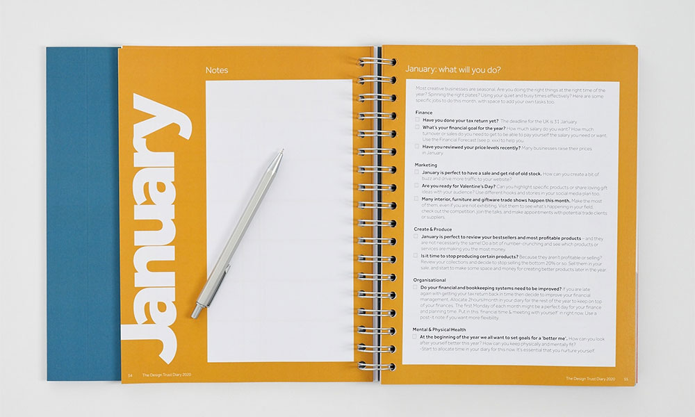 the design trust paper diary guides you through the year, month to month