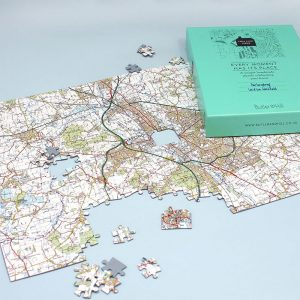 christmas gift ideas - gifts £10 to £30 - personalised map jigsaw