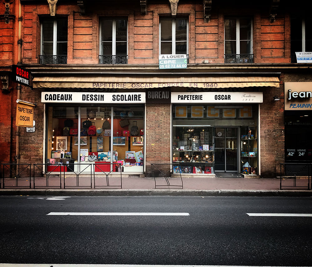 oscar stationery shop toulouse