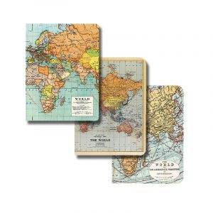 christmas gift ideas - stocking fillers under £15 - vintage map notebooks