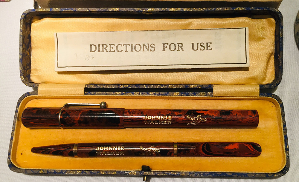 the london pen show 2020 - johnnie walker pens