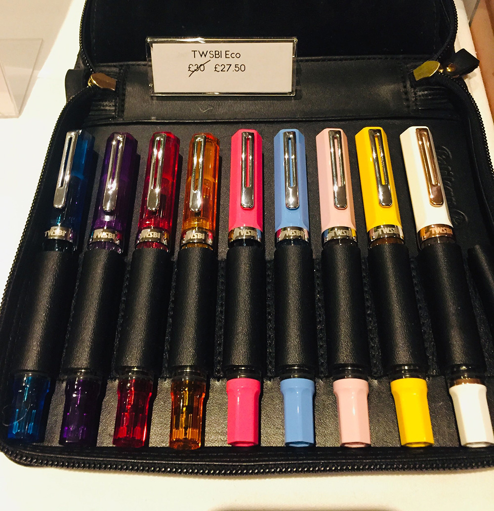 the london pen show 2020 - twsbi pens