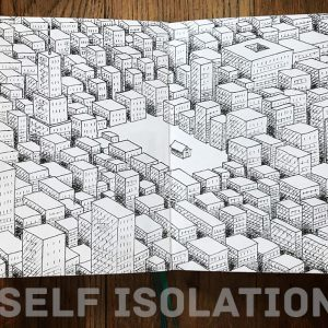 self isolation line drawing