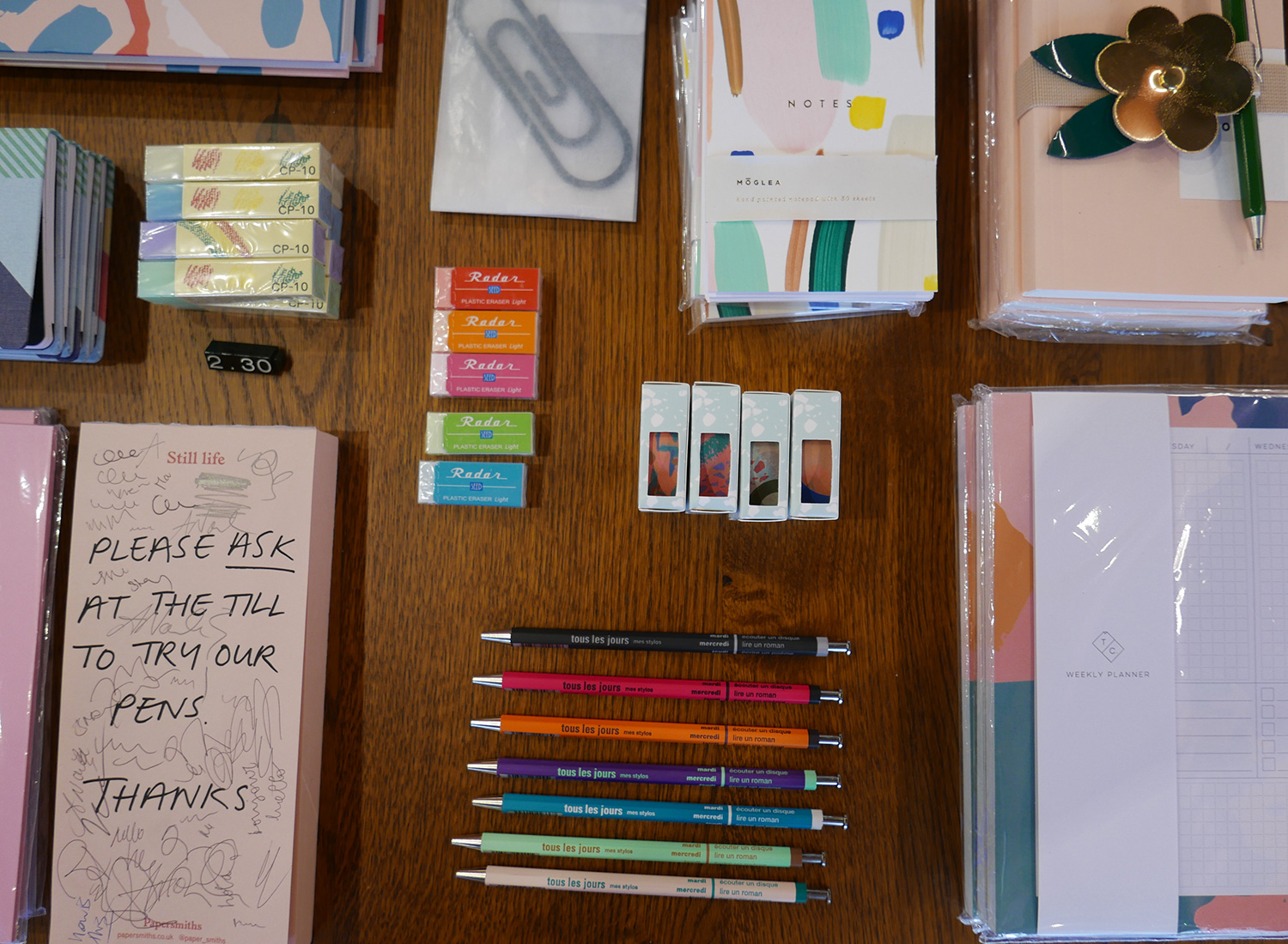 stationery in papersmiths pavilion road