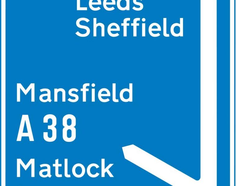 why are motorway signs blue?