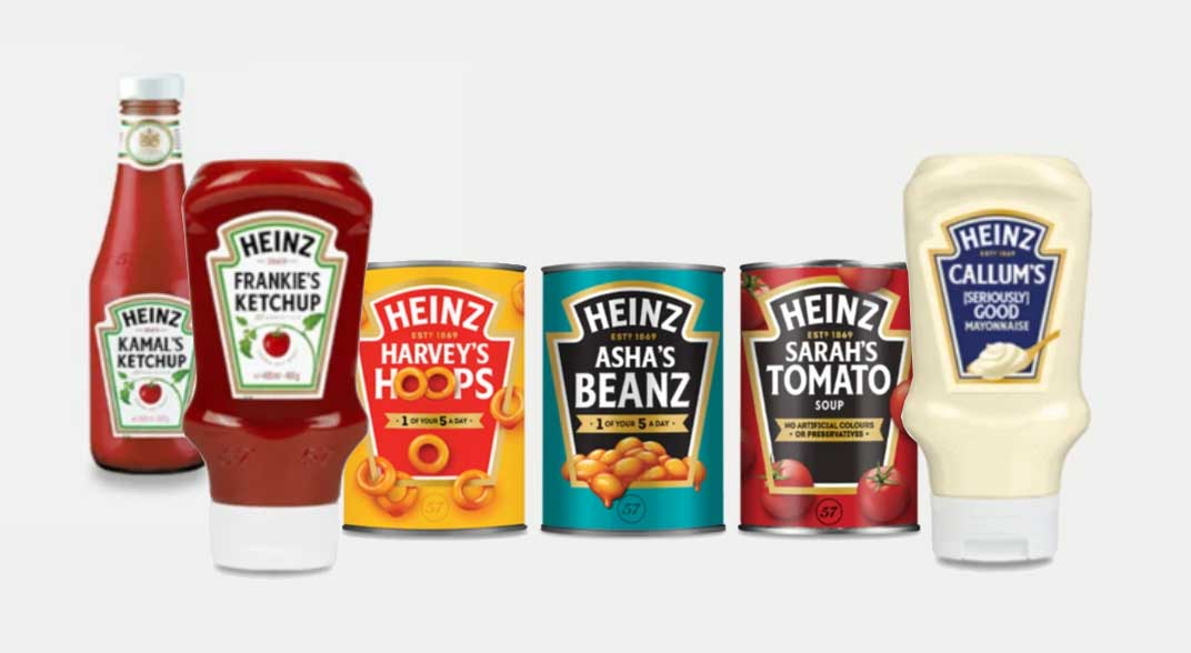 personalisation - heinz tins and ketchup