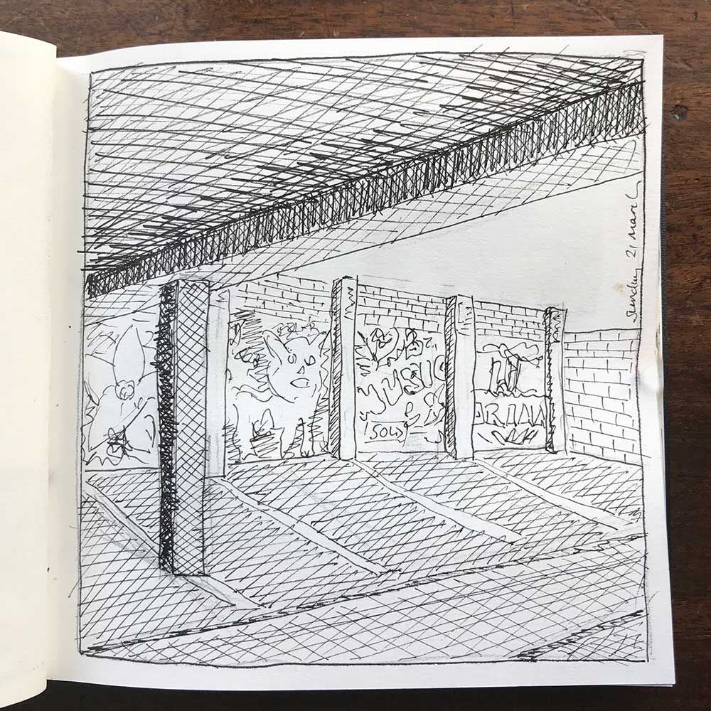 sketchbook day 21 - car park