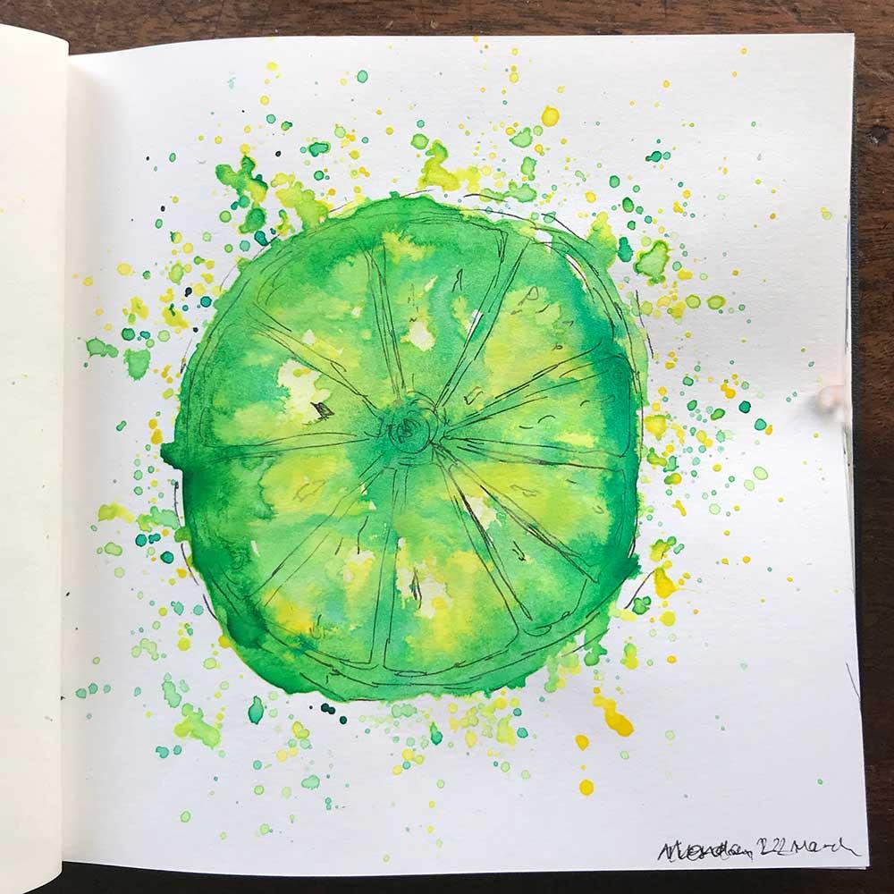 sketchbook day 22 - lime