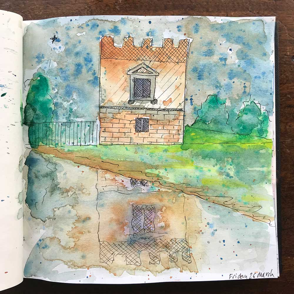 sketchbook day 26 - syon park