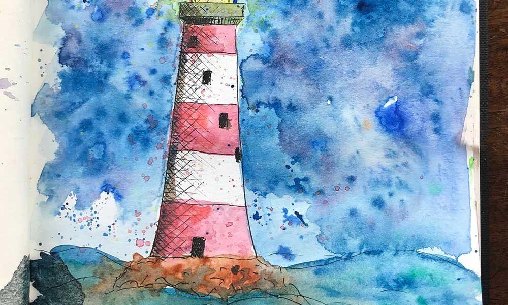 sketchbook day 27 - lighthouse