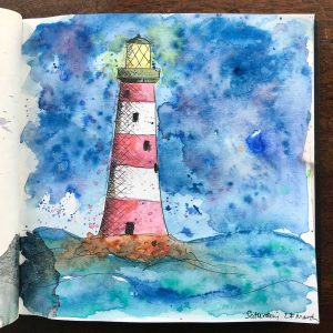 sketchbook day 27 - lighthouse