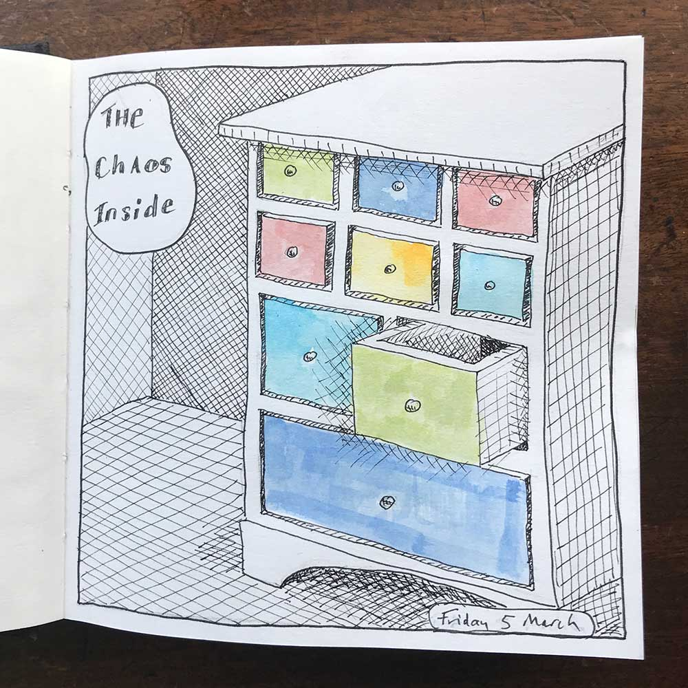 sketchbook day 5 - the chaos inside