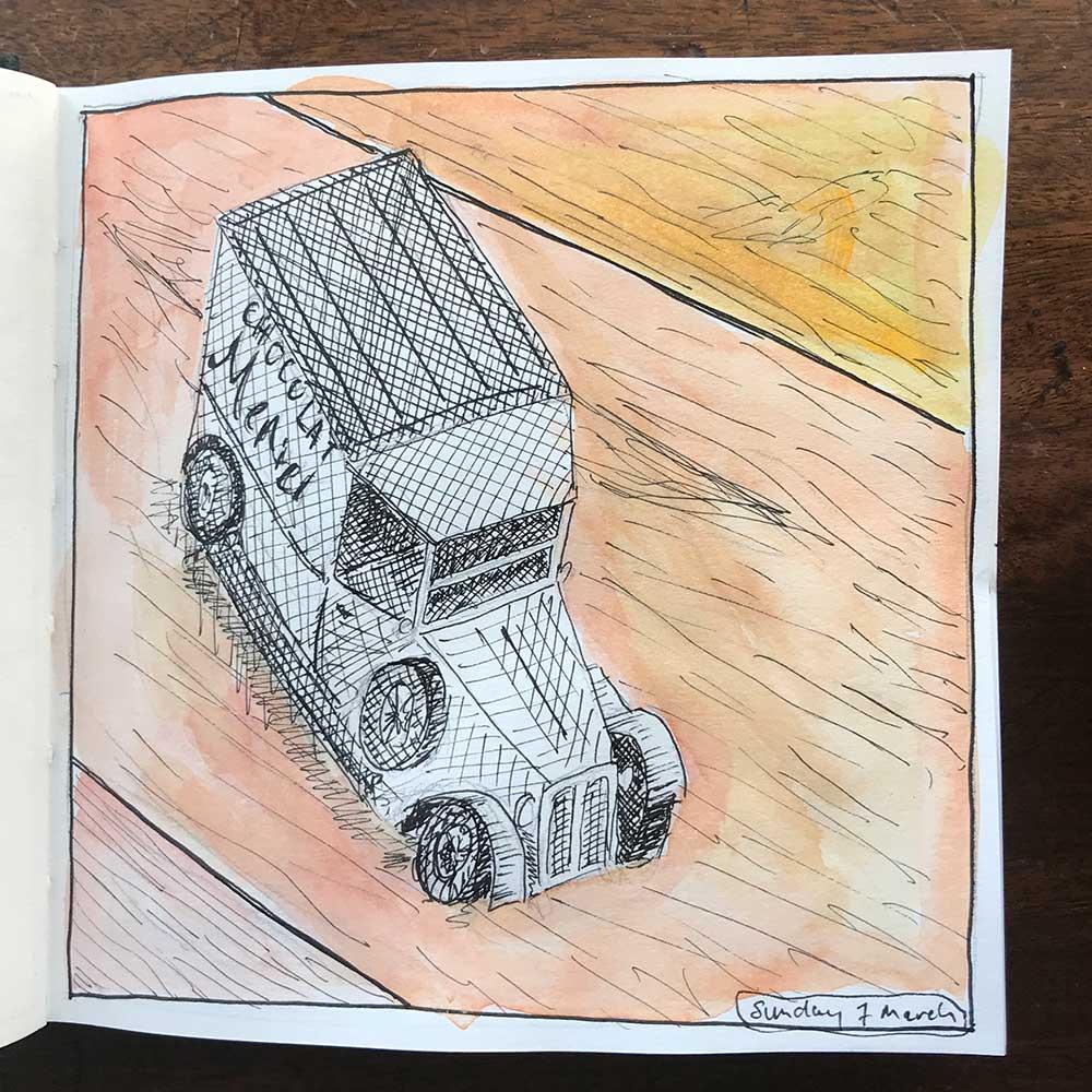 sketchbook day 7 - toy car